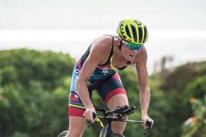 Flora Duffy takes second (photo by Island House Triathlon)