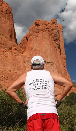 Langlois finished marathons in all 50 states plus the District of Columbia